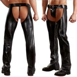 Pantalon ouvert en vinyle