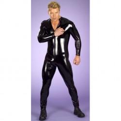 Combinaison vinyle souple Wet look homme - catsuit pour homme