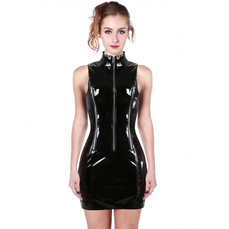 Robe zippée en vinyle
